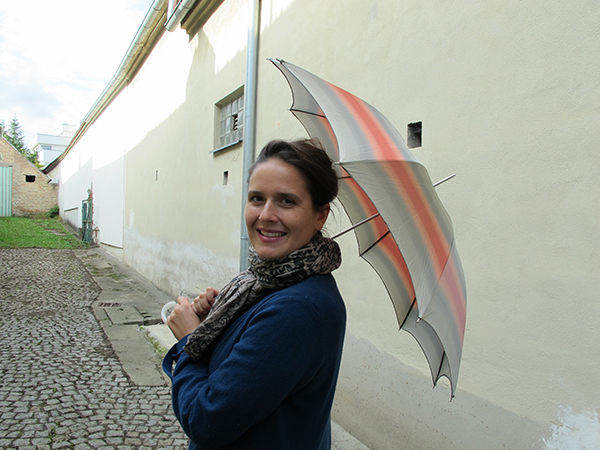 Eva-Maria and umbrella, october 2015