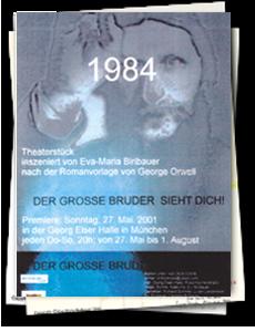 """Diplomarbeit """"1984"""" Zeichnungen und Bühne"""