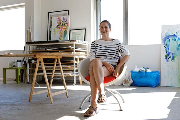 Eva-Maria im Atelier