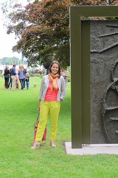 Eva-Maria im Garten der Künste