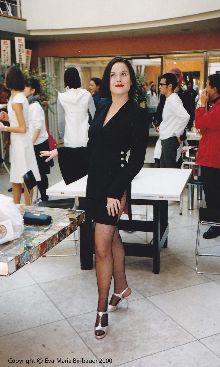 Eva-Maria als Model in Tokio