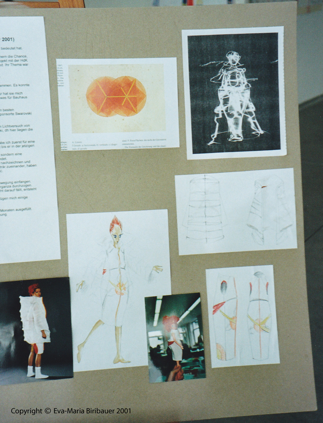 Finished designs and photos af the original artwork