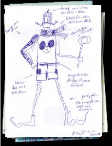 Kostümentwürfe von Eva-Maria Biribauer