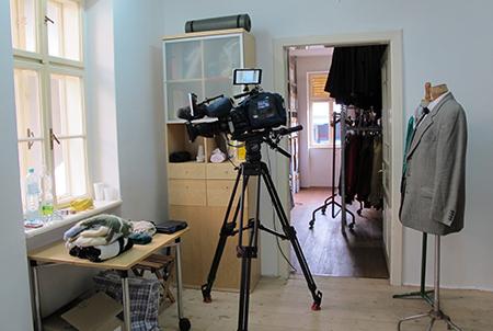 Dreharbeiten für ORF-Burgenland, Jänner 2016