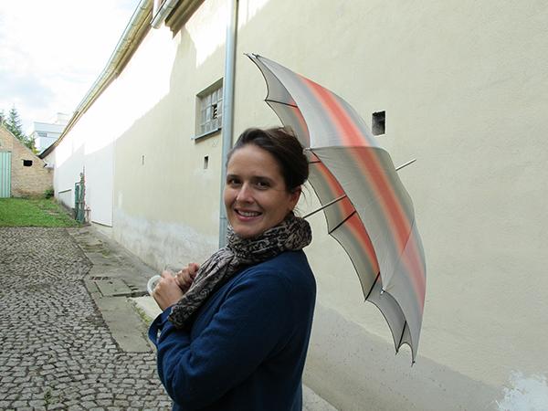 Eva-Maria and umbrella, october 2015