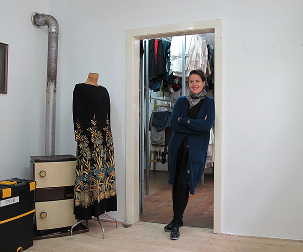 Eva-Maria in her stock, october 2015